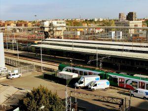 ボローニャ、電車の見える宿